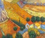 Landscape with House and Laborer by  Vincent Van Gogh (Painting ID: VG-0148-KA)