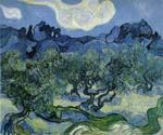 Landscape with Olive Trees by  Vincent Van Gogh (Painting ID: VG-0213-KA)