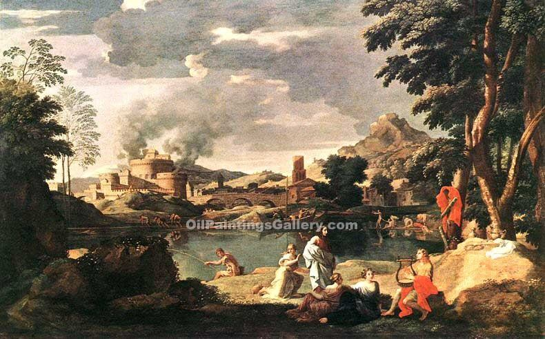 """Landscape with Orpheus and Euridice"" by  Nicolas Poussin"