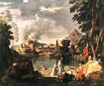 Landscape with Orpheus and Euridice by  Nicolas Poussin (Painting ID: CM-1426-KA)