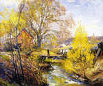 Landscape with Stream by  Mathias J. Alten (Painting ID: LA-0126-KA)