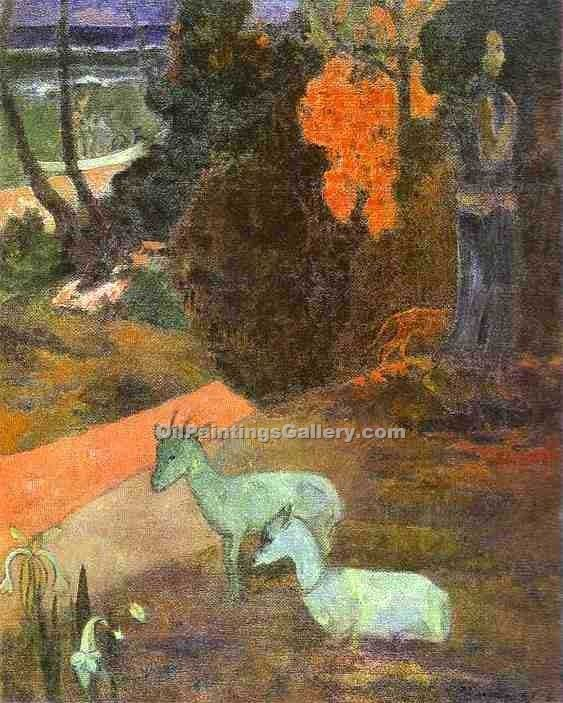 """Landscape with Two Goats"" by  Paul Gauguin"
