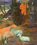 Landscape with Two Goats by  Paul Gauguin (Painting ID: GA-0238-KA)