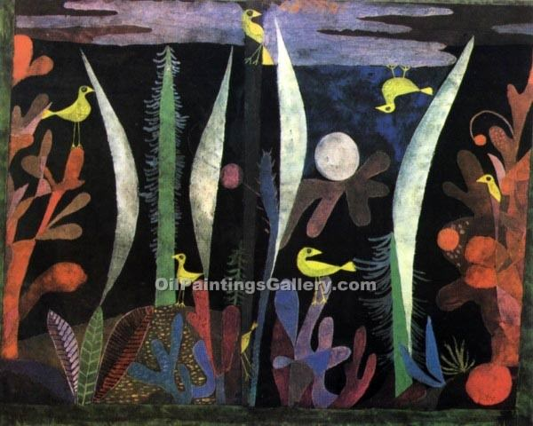 """Landscape with Yellow Birds"" by  Paul Klee"
