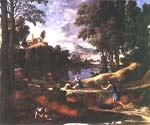 Landscape with a Man Killed by a Snake by  Nicolas Poussin (Painting ID: CM-1430-KA)