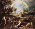 Landscape with a Rainbow by  Peter Paul Rubens (Painting ID: CM-1513-KA)