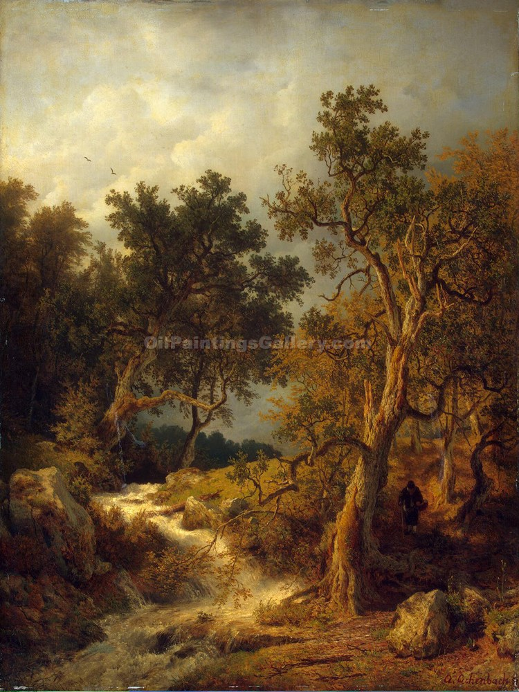 """Landscape with a Stream"" by  Andreas Achenbach"