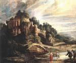 Landscape with the Ruins of Mount Palatine in Rome by  Peter Paul Rubens (Painting ID: CM-1519-KA)
