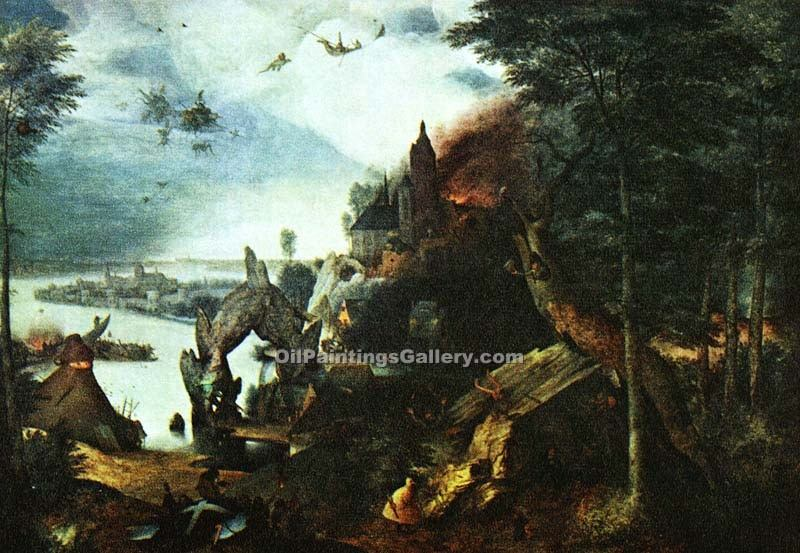 """Landscape with the Temptation of St. Anthony"" by  Pieter the Elder Brueghel"