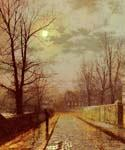 Lane In Cheshire by  John Atkinson Grimshaw (Painting ID: LA-0256-KA)
