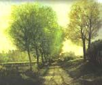 Lane near a Small Town by  Alfred Sisley (Painting ID: LA-0311-KA)