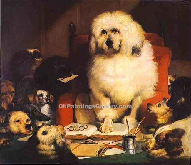 """Laying Down the Law"" by  Sir Edwin Henry Landseer"