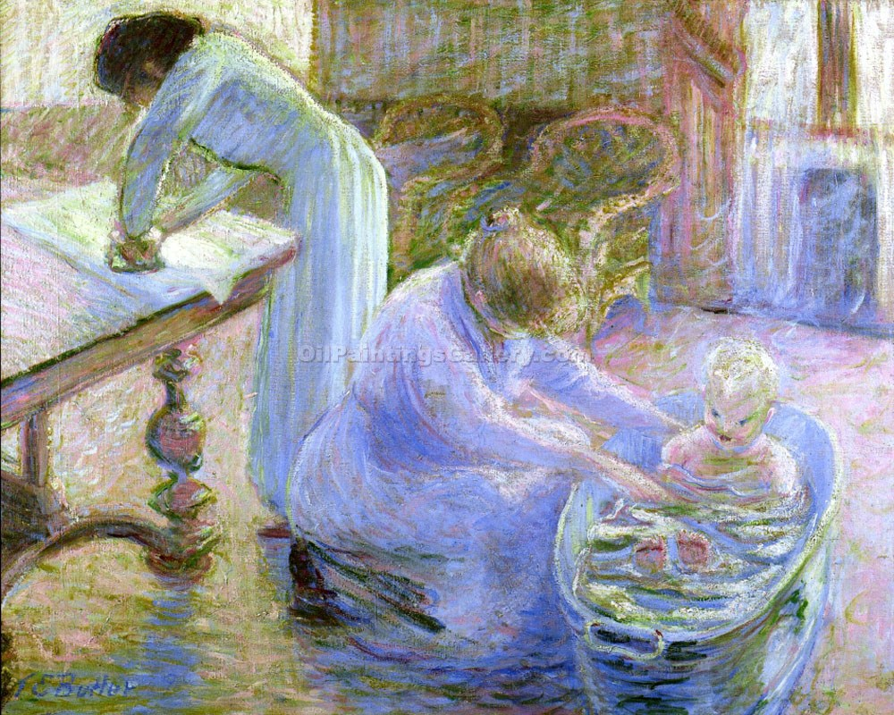 """Le Bain, Maison Baptiste, Giverny France"" by Theodore Earl Butler"