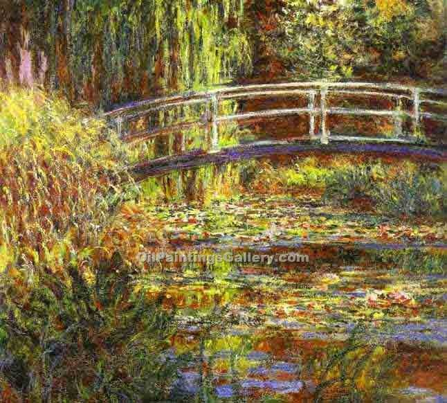 """Le Bassin aux nympheas, harmonie rose"" by  Claude Monet"