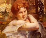 Le Femme Aux Cheveux Roux by  Paul Albert Besnard (Painting ID: CL-0954-KA)