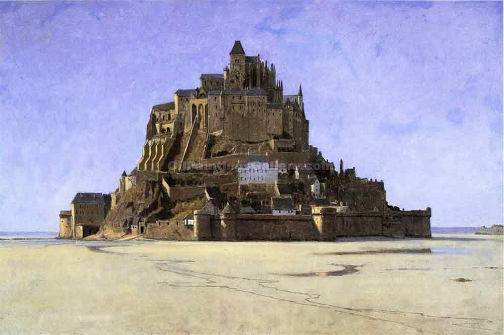 """Le Mont Saint Michel, France"" by  William Stanley Haseltine"