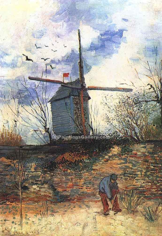 """Le Moulin de la Gallette 79"" by  Vincent Van Gogh"