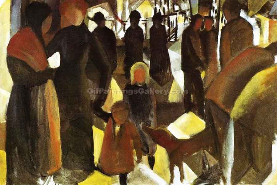 """Leave Taking"" by  August Macke"