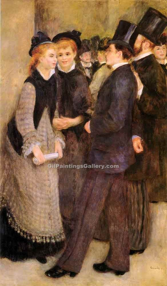 """Leaving The Conservatoire"" by  Pierre Auguste Renoir"