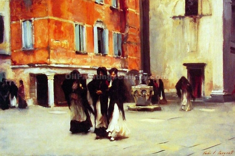 """Leaving the Church Campo San Canciano"" by  John Singer Sargent"