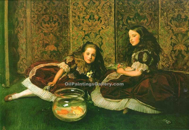 """Leisure Hours"" by  John Everett Millais"