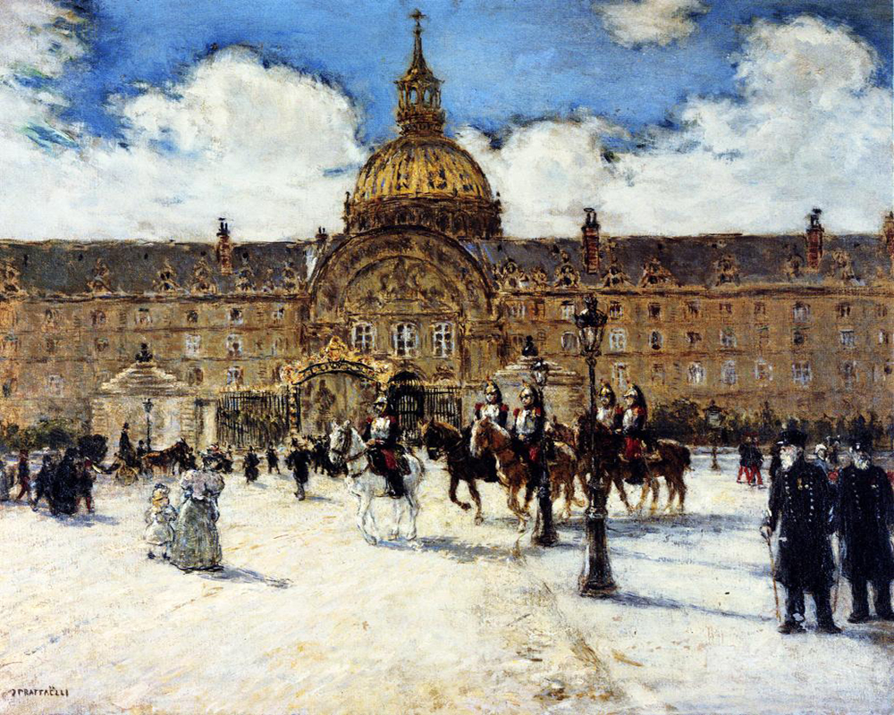 Les Invalides Napoleon by Jean Francois Raffaelli | Art Deco Paintings - Oil Paintings Gallery