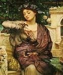 Lesbia and Her Sparrow by  Sir Edward John Poynter (Painting ID: CL-1114-KA)