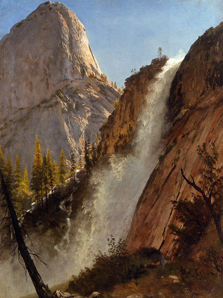 """Liberty Cam, Yosemite"" by  Albert Bierstadt"