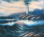 Lighthouse 90 Oil Painting (ID: LA-1590-A)