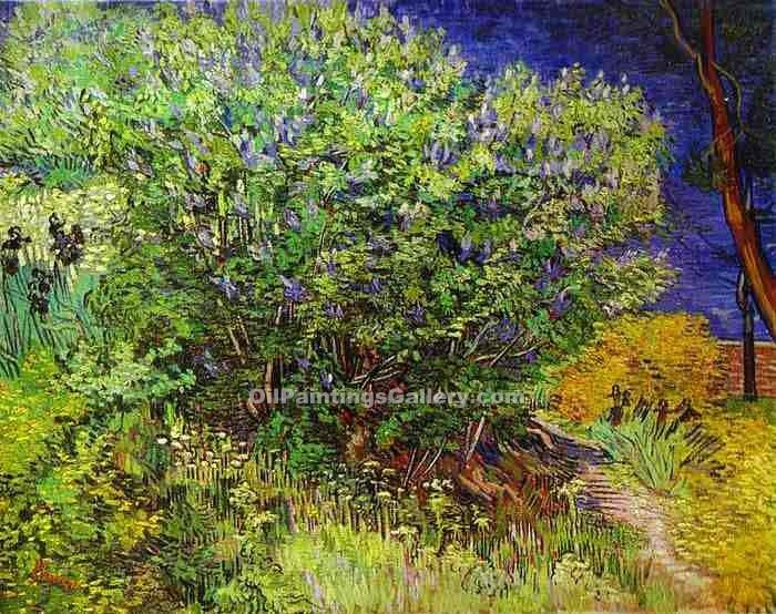 """Lilac Bush"" by  Vincent Van Gogh"