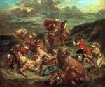 Lion Hunt by  Eugene Delacroix (Painting ID: AN-2018-KA)