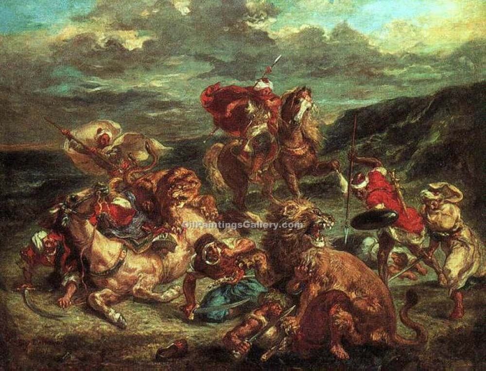 """Lion Hunt"" by  Eugene Delacroix"