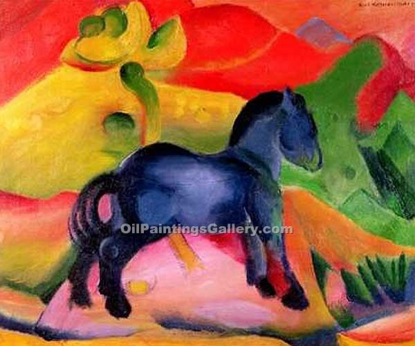 """Little Blue Horses"" by  Franz Marc"