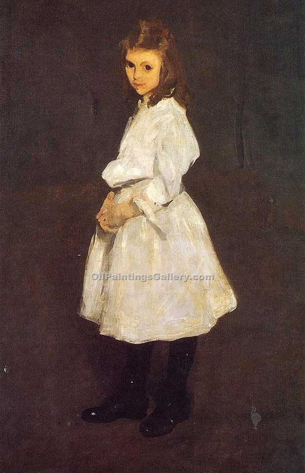 """Little Girl in White"" by  George Bellows"