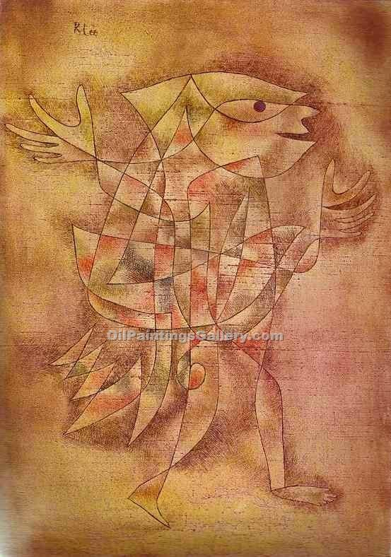 """Little Jester in a Trance"" by  Paul Klee"