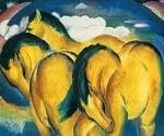 Little Yellow Horses by  Franz Marc (Painting ID: AF-0164-KA)
