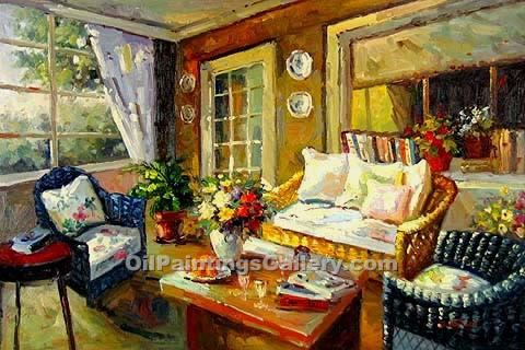 Buy Still Life Oil Painting Online - Art Reproductions | Living Room 25 - Realism & Naturalism styles
