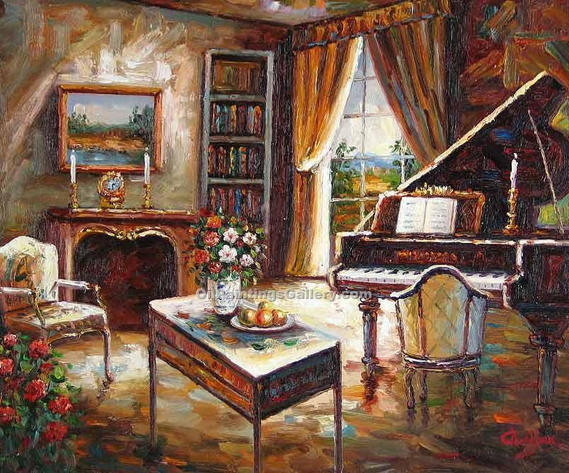 """Living Room with Piano 30"""