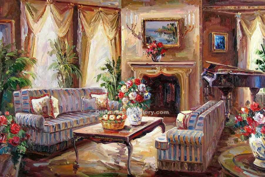 """Living Room with Piano 31"""