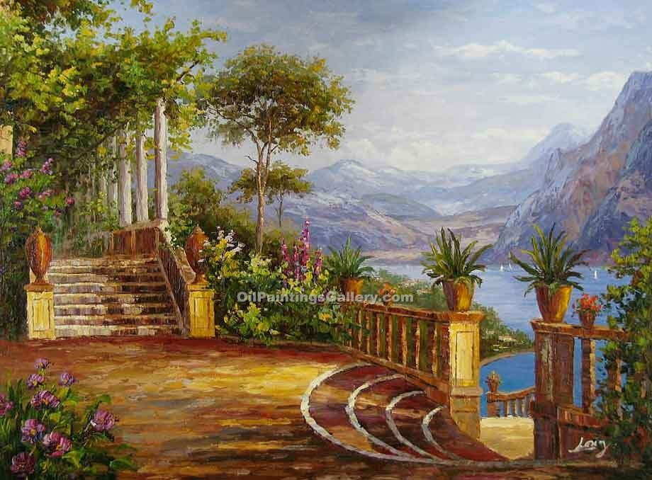 """Lodge on Lake Como"" by  Carl Frederic Aagaard"