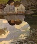 Looking-Glass River by  Jessie Willcox Smith (Painting ID: CL-1912-KA)