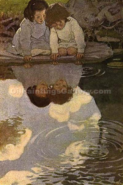 Looking-Glass River by Smith Jessie Willcox | Paintings Replicas - Oil Paintings Gallery