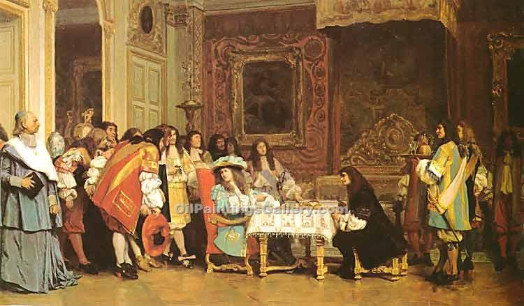 """Louis XIV and Moliere"" by  Jean Leon Gerome"