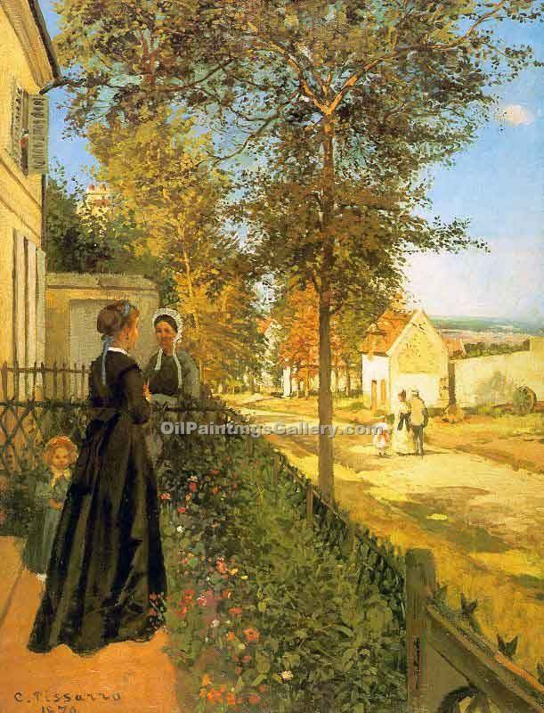 """Louveciennes the Road to Versailles"" by  Camille Pissarro"