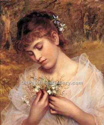 """Love in a Mist"" by  Sophie Gengembre Anderson"