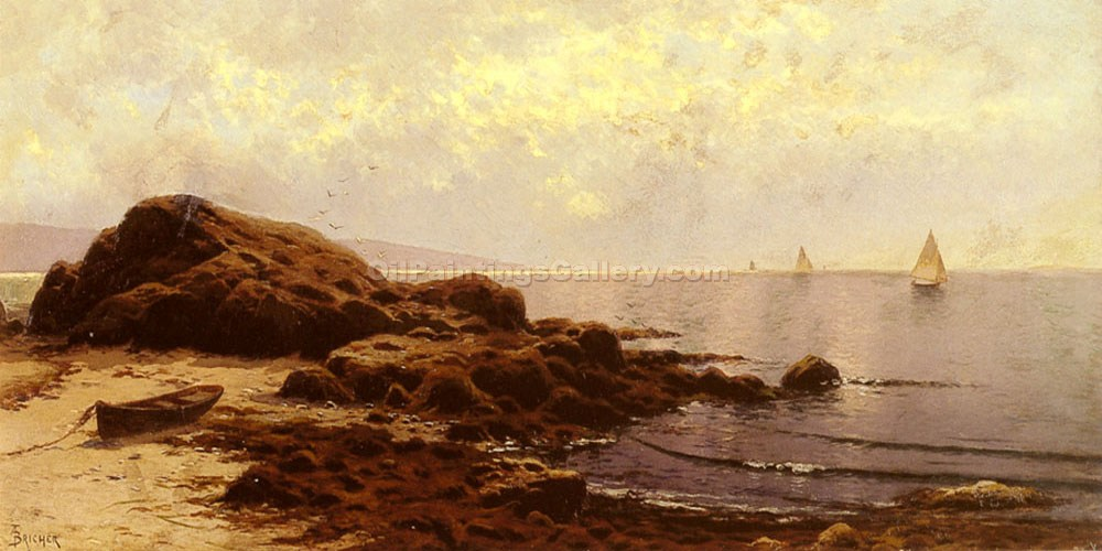 """Low Tide at Bailey"" by  Alfred Thompson Bricher"