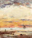 Low Tide at Sunset by  Eugene Louis Boudin (Painting ID: LA-2390-KA)