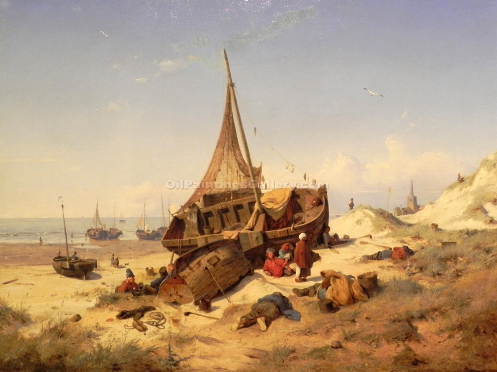 """Low Tide"" by  Andreas Achenbach"