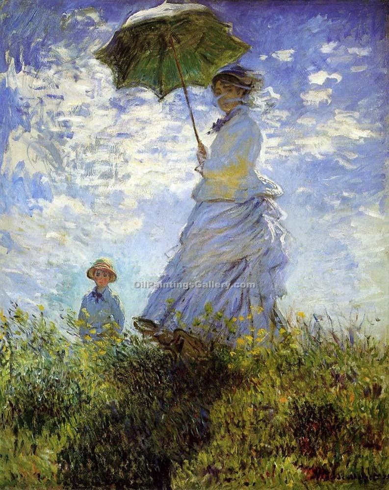 """Madame Monet and Her Son"" by  Claude Monet"