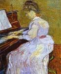 Mademoiselle Gachet at Piano by  Vincent Van Gogh (Painting ID: VG-0241-KA)